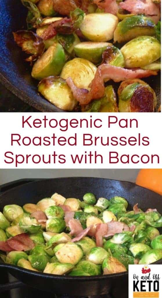 Keto Pan-Roasted Brussels Sprouts & Bacon recipe