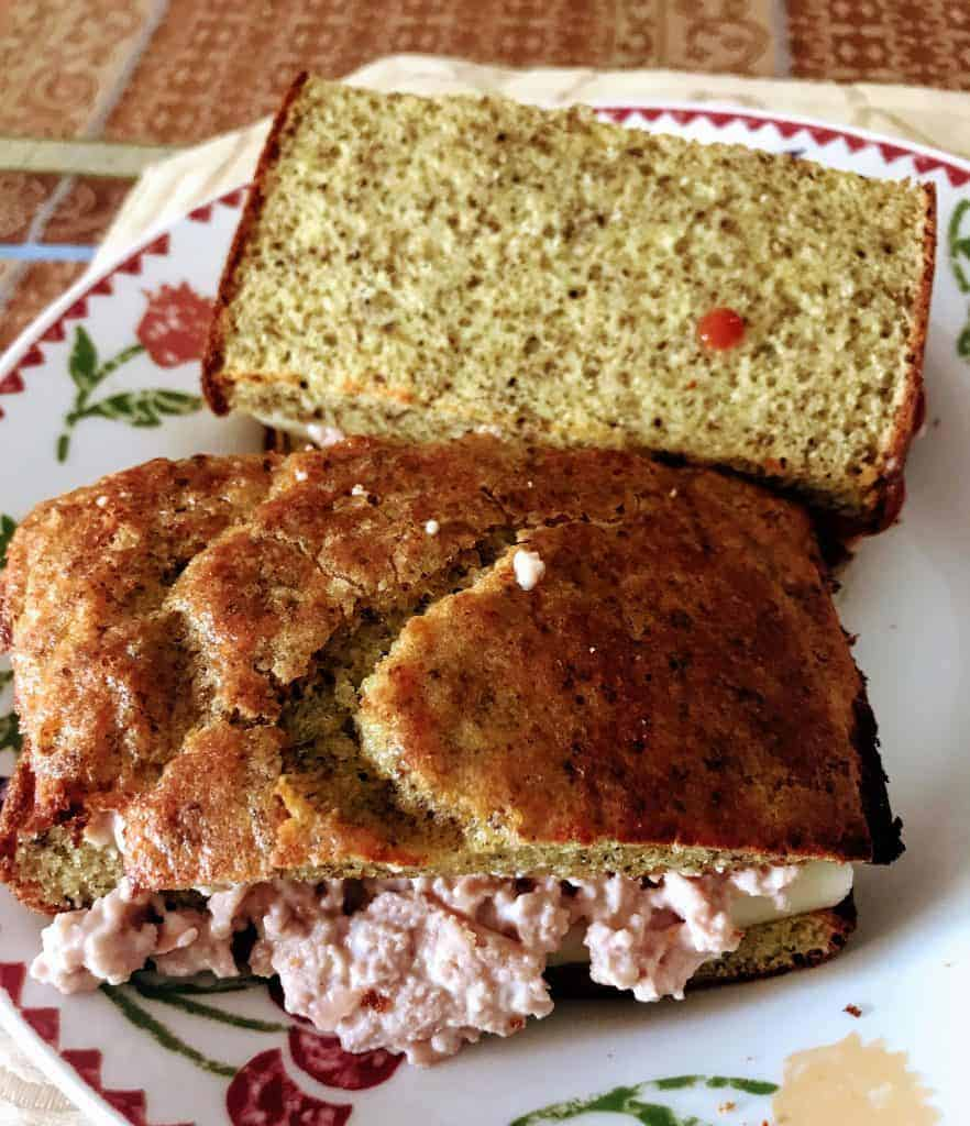 Keto egg loaf sandwich with Sausage and cheese. See more of my keto first week weight loss results