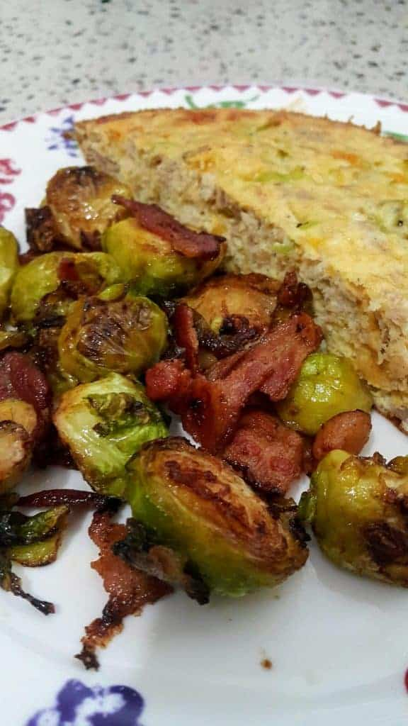 Keto Pan-Roasted Brussels Sprouts & Bacon