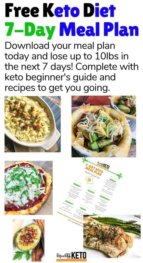 Free 7-day keto meal plan