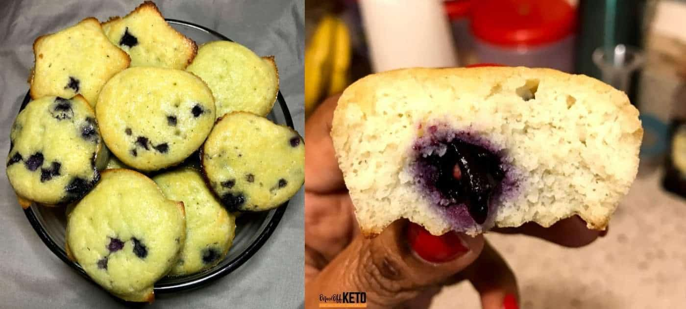 Keto Blueberry Muffins Made with Coconut Flour