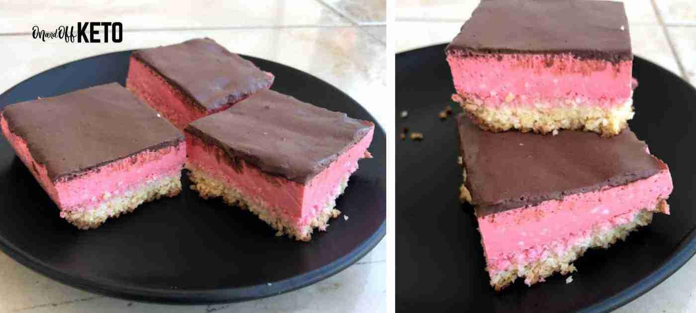 Keto Jello Cheesecake Squares