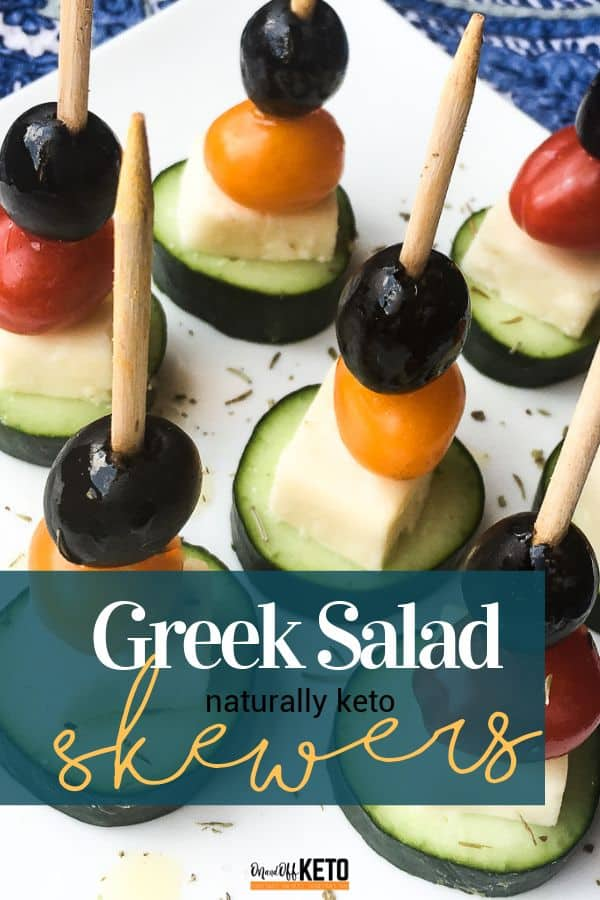 Keto Greek Salad Skewers