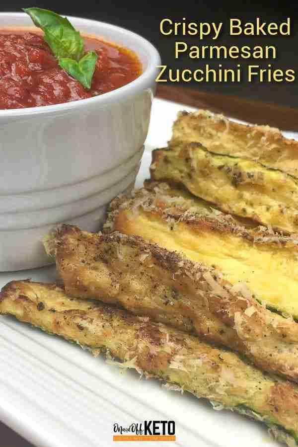 Crispy zucchini fries with almond flour