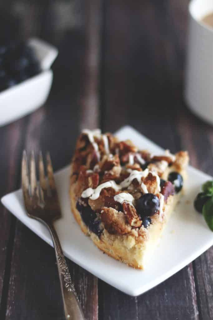 Keto Blueberry Pecan Coffee Cake