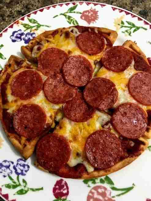pizza chaffle