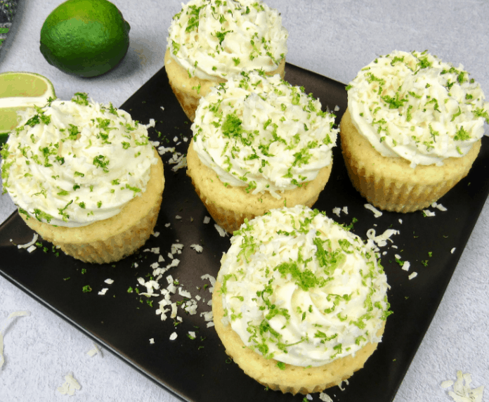 Coconut Lime Keto Cupcakes Recipe