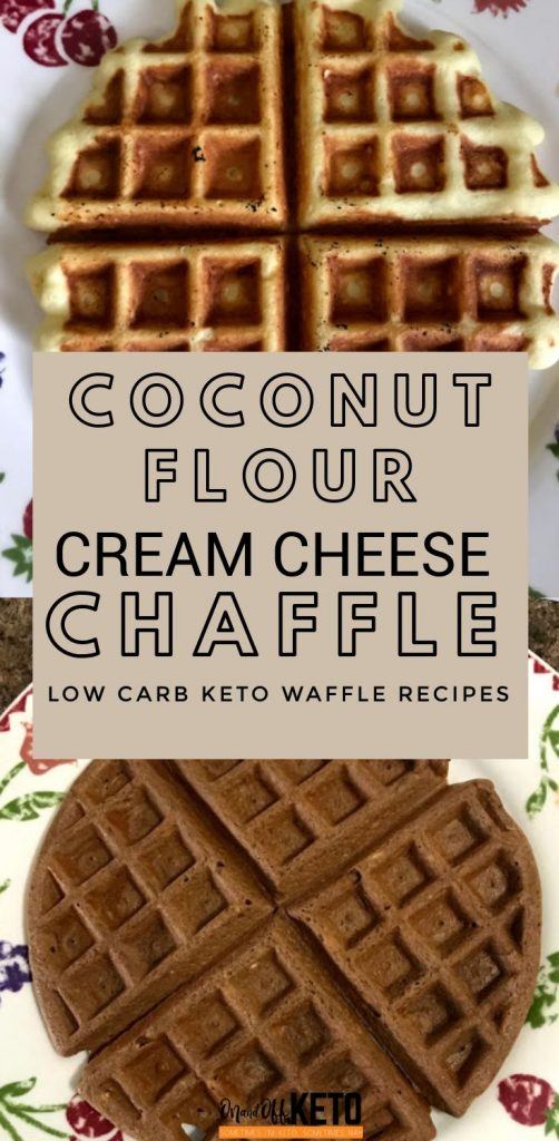 Cream Cheese Coconut Flour Chaffles