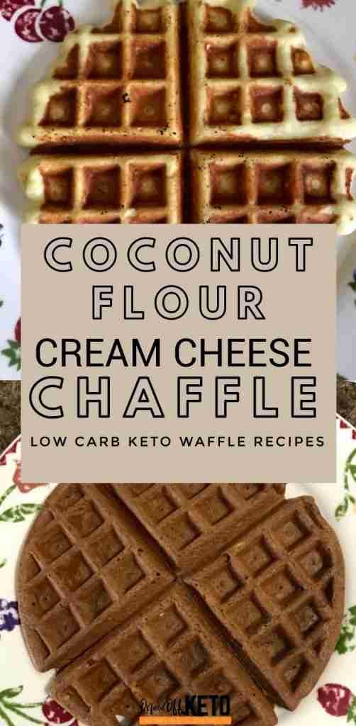 Cream Cheese Coconut Flour Chaffles