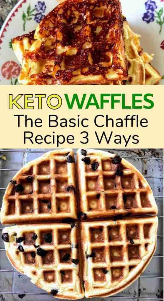 Basic Chaffle Recipe 3 ways keto waffle almond flour waffle coconut flour waffle
