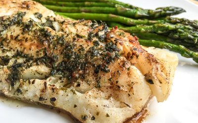 Quick and Easy Keto Cod Recipe: Atlantic Cod with Garlic Herb Butter