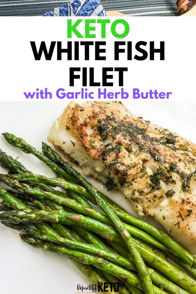 Atlantic Code with Garlic Herb Butter