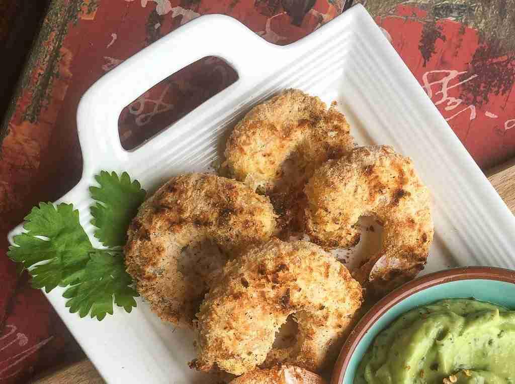 Keto Coconut Shrimp with Avocado-Lime Dip