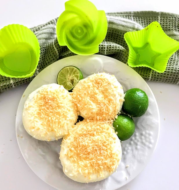 Coconut Lime Keto Cupcakes