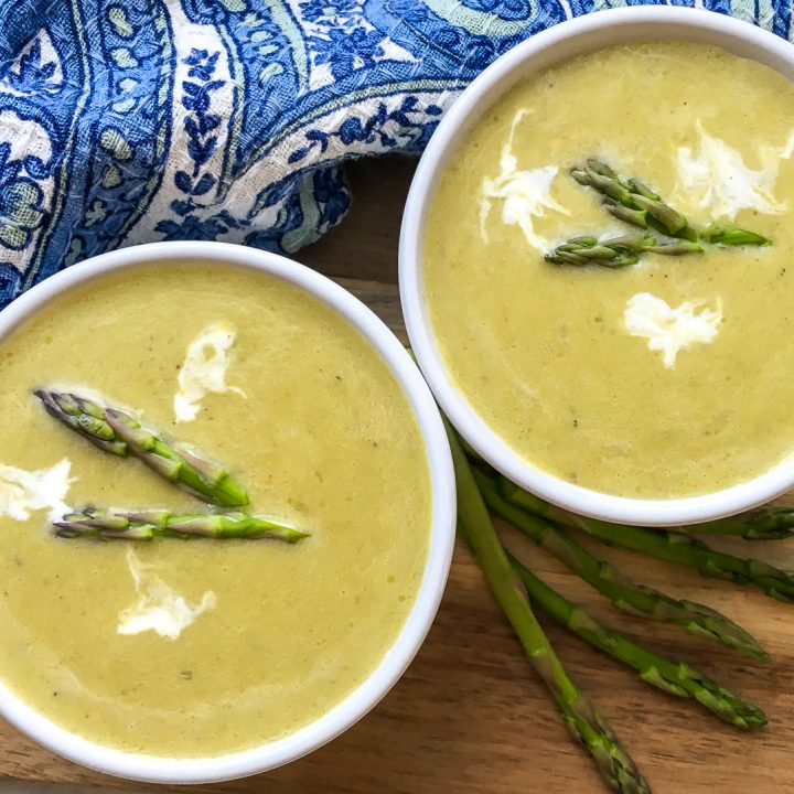Keto Instant Pot Creamy Asparagus Soup