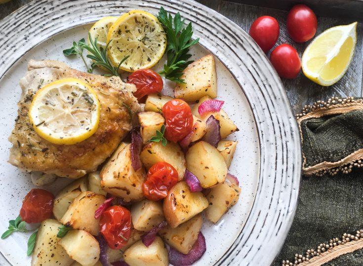 Roasted Lemon Chicken & Low Carb Vegetables