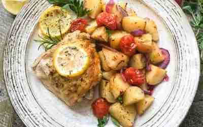 Lemon Keto Roast Chicken and Vegetables