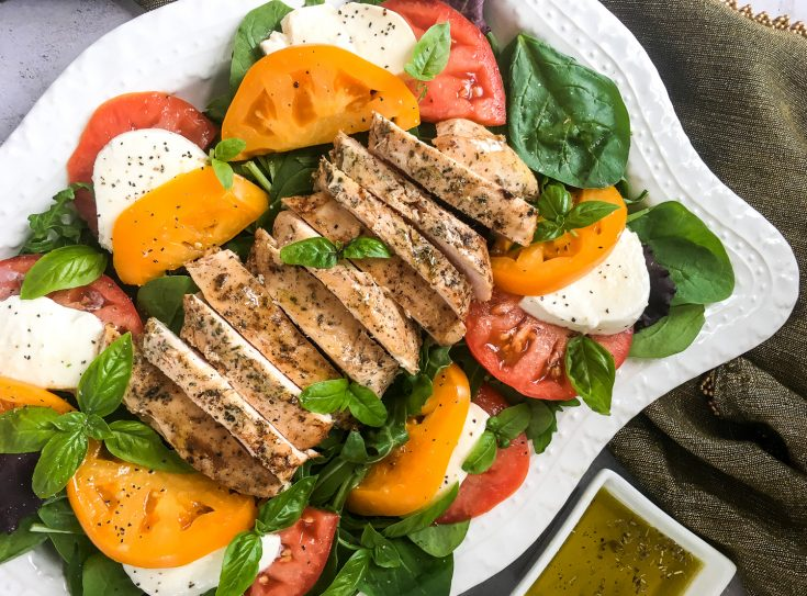 Sous Vide Chicken Breasts with Heirloom Tomatoes & Fresh Mozzarella