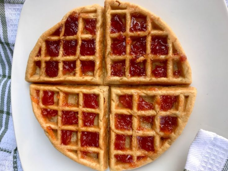 peanut butter jelly chaffle