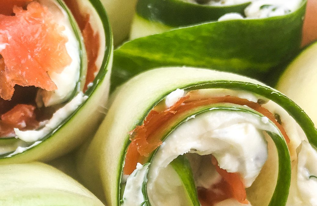 Smoked Salmon Cucumber Roll Appetizer