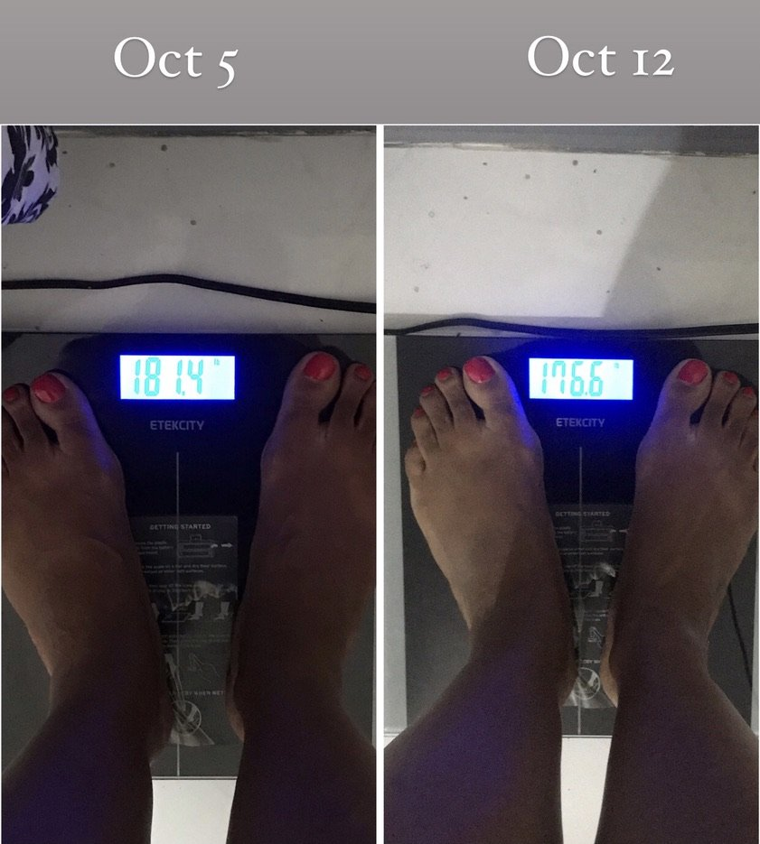 keto one week weight loss results