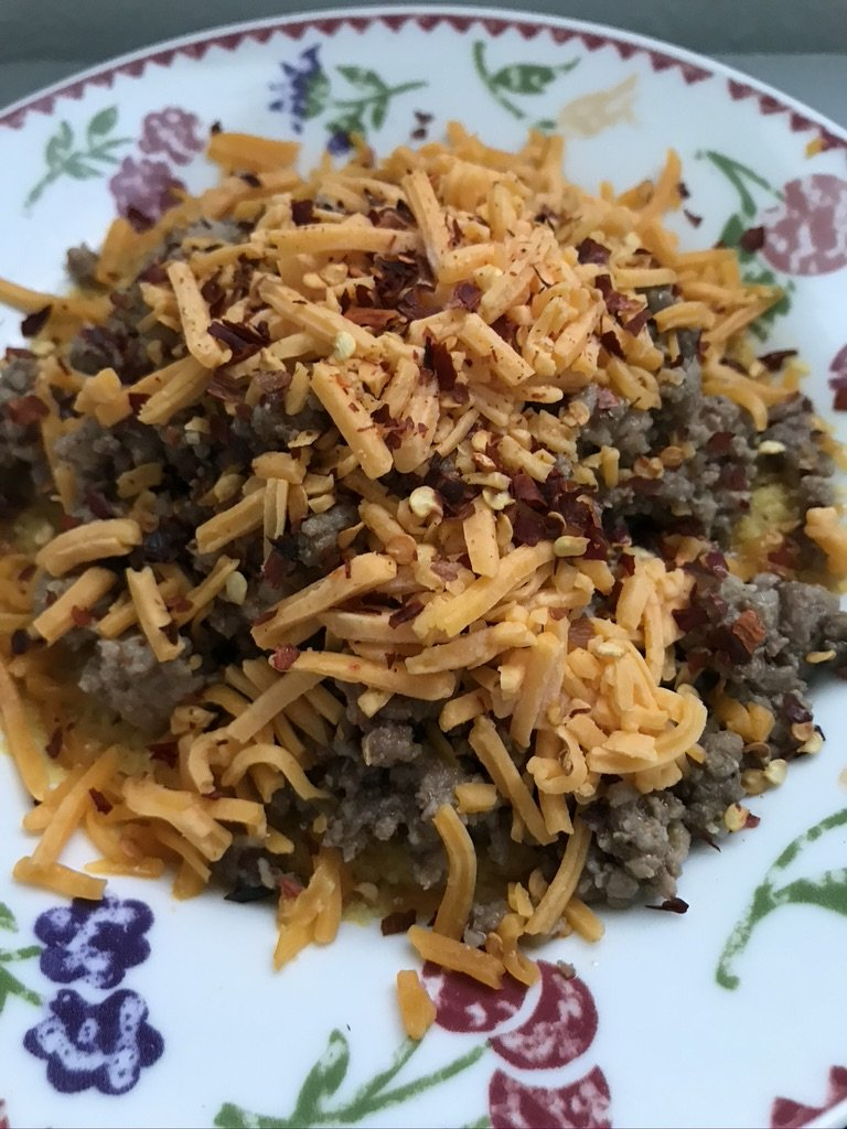 Ground beef with ground lupin