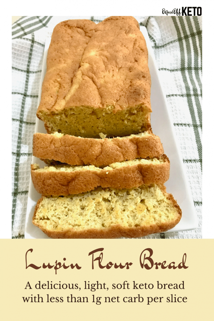 Lupin flour bread