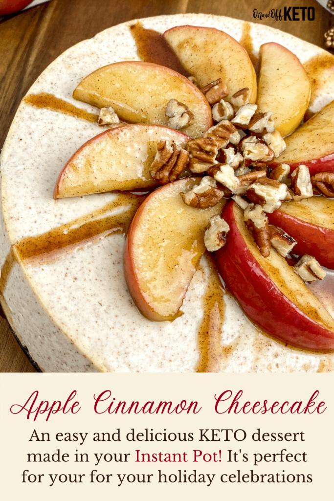 Instant Pot Apple-Cinnamon Cheesecake