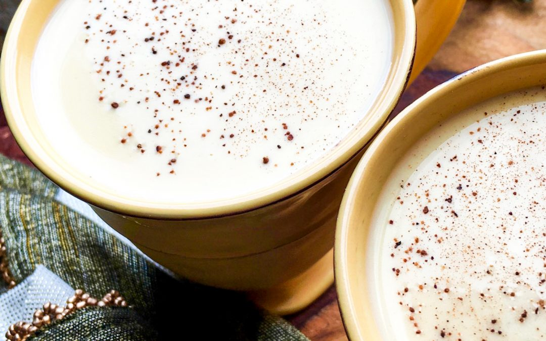 Creamy Homemade Keto Eggnog (Cooked)