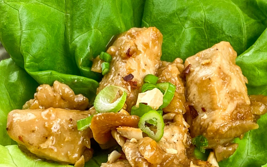 Quick and Easy Cashew Chicken Wraps