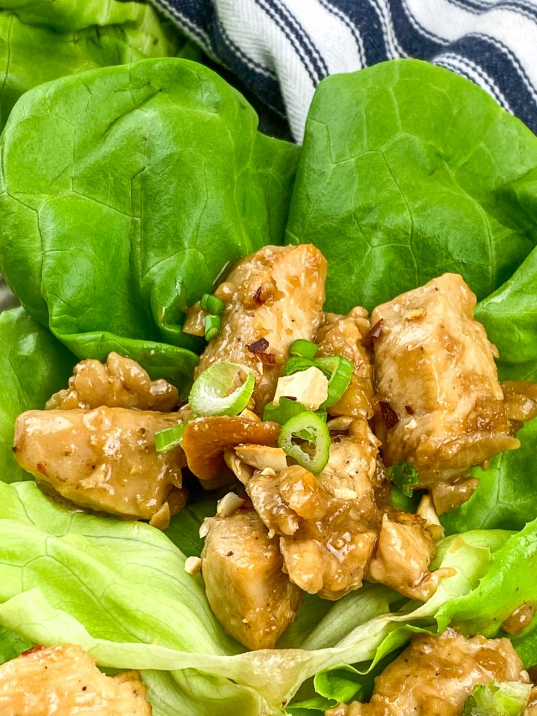 Keto Cashew Chicken Wraps
