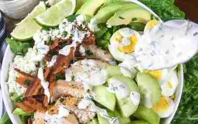 Keto Cobb Salad with Homemade Ranch Dressing