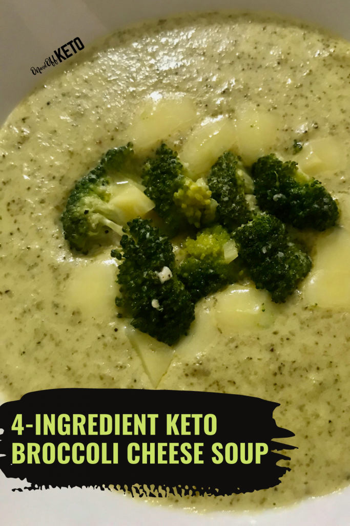 4 Ingredient Keto Broccoli and Cheese Soup