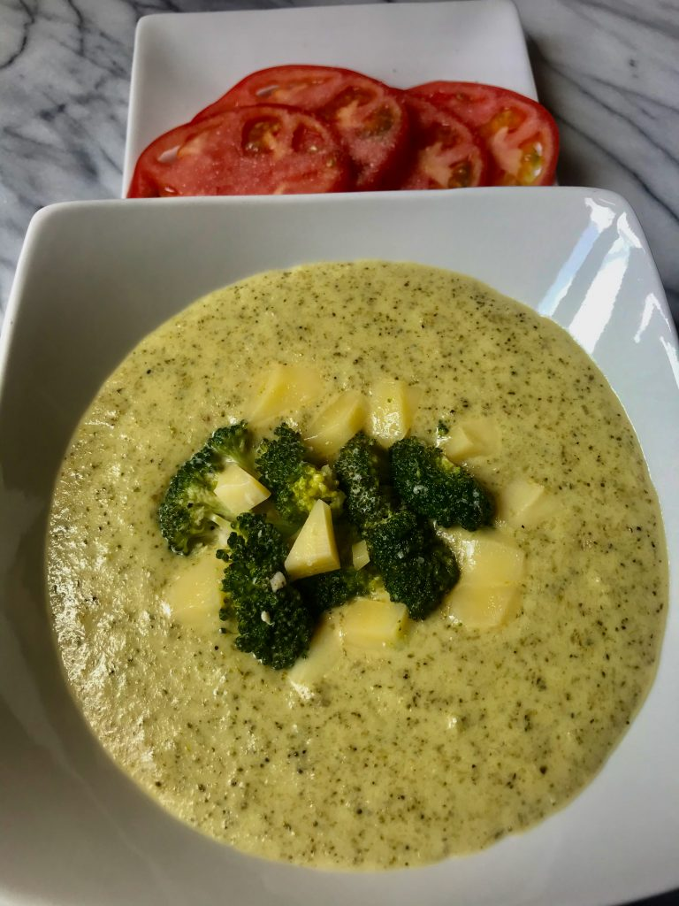 4 Ingredient Keto Broccoli Cheese Soup
