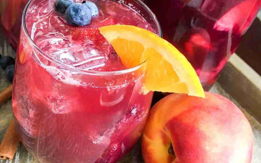 Berry Peach Sparkling Non-Alcoholic Sangria