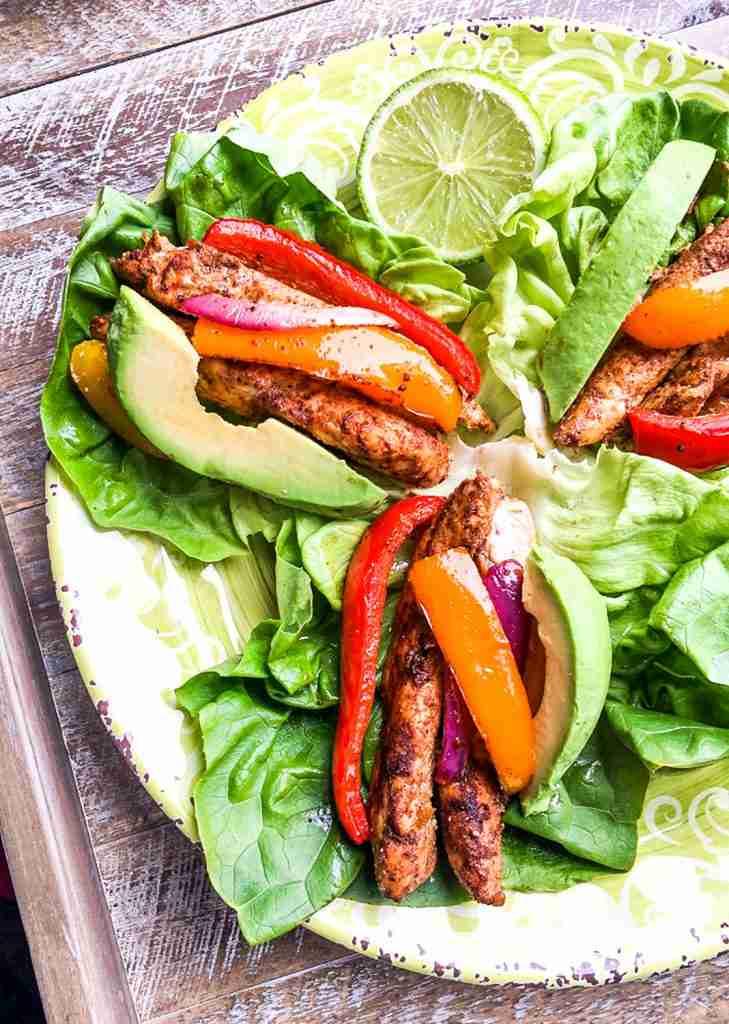 Sheet Pan Chicken Fajita Lettuce Wraps