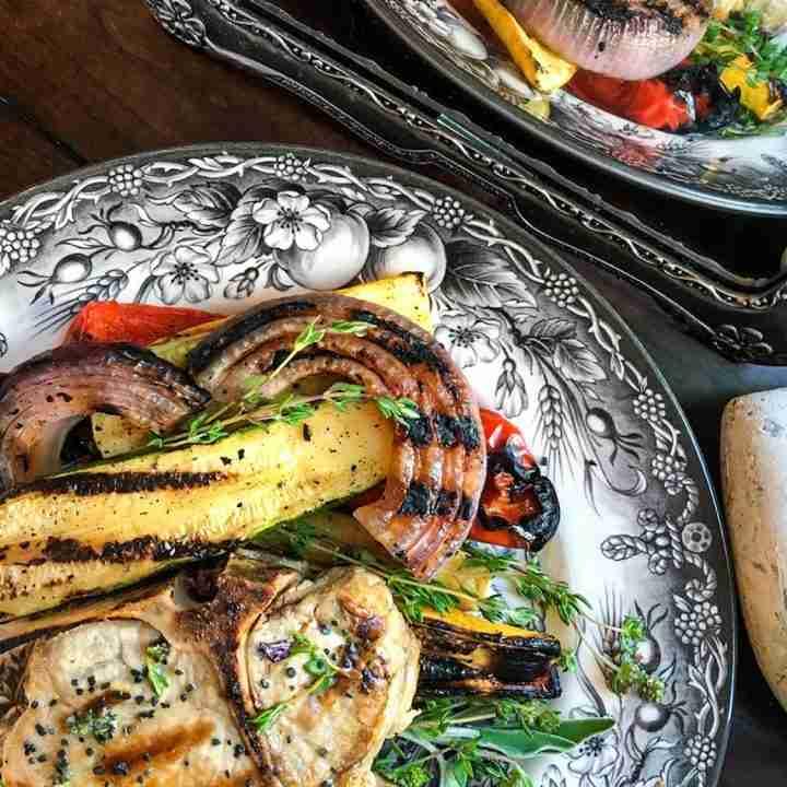 Grilled Bone-In Pork Chops with Herb Rub
