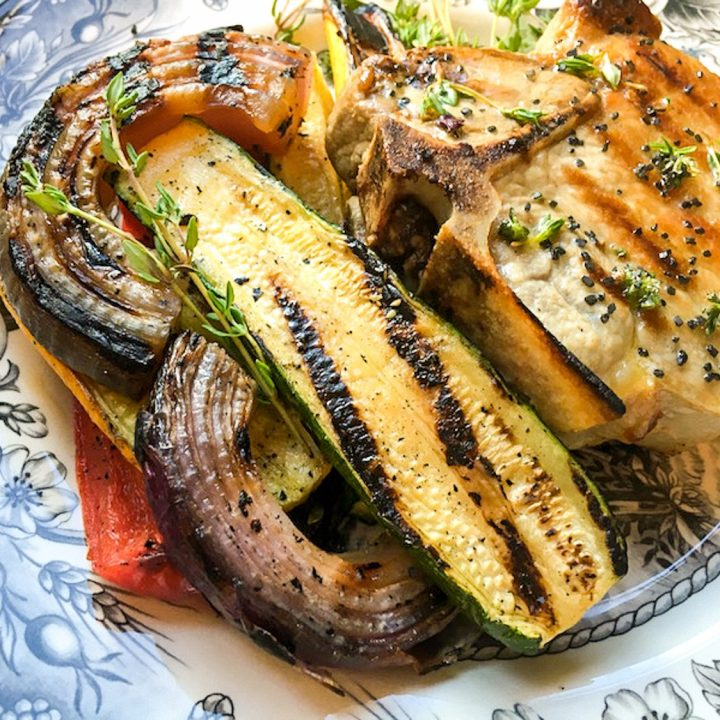 Grilled Summer Vegetable Medley with Herb Butter