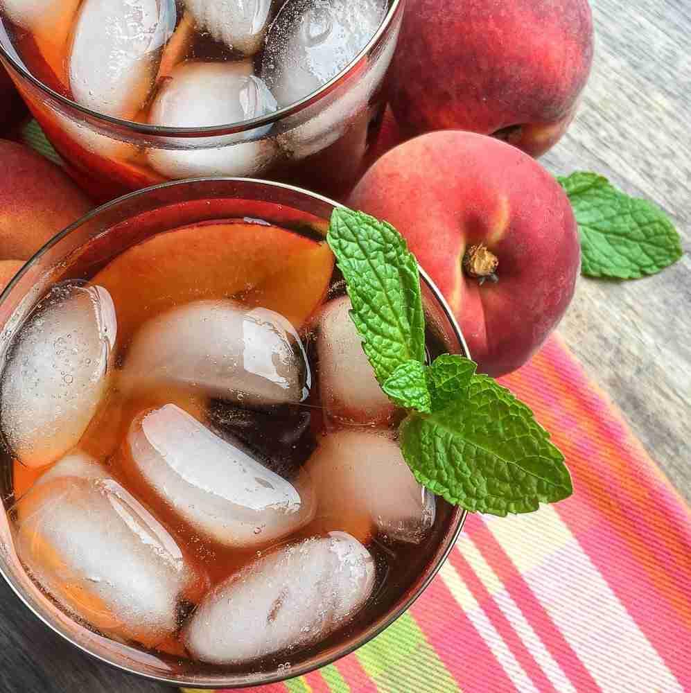 Ginger Peach Iced Tea