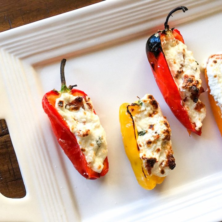 Bacon and Cheese Stuffed Mini Peppers